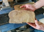 Wood from an olive tree