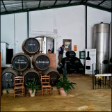 Grant barrels in the store