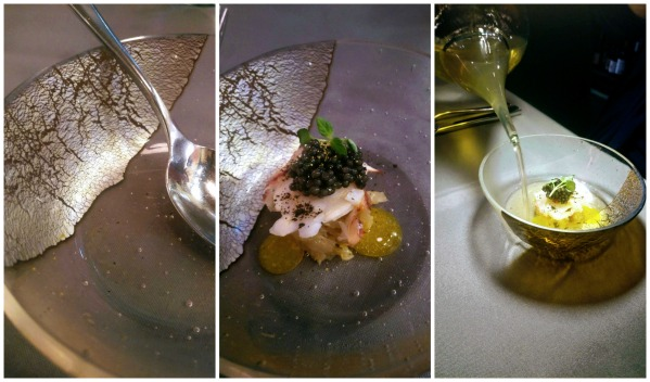 lobster and consommé topped with caviar